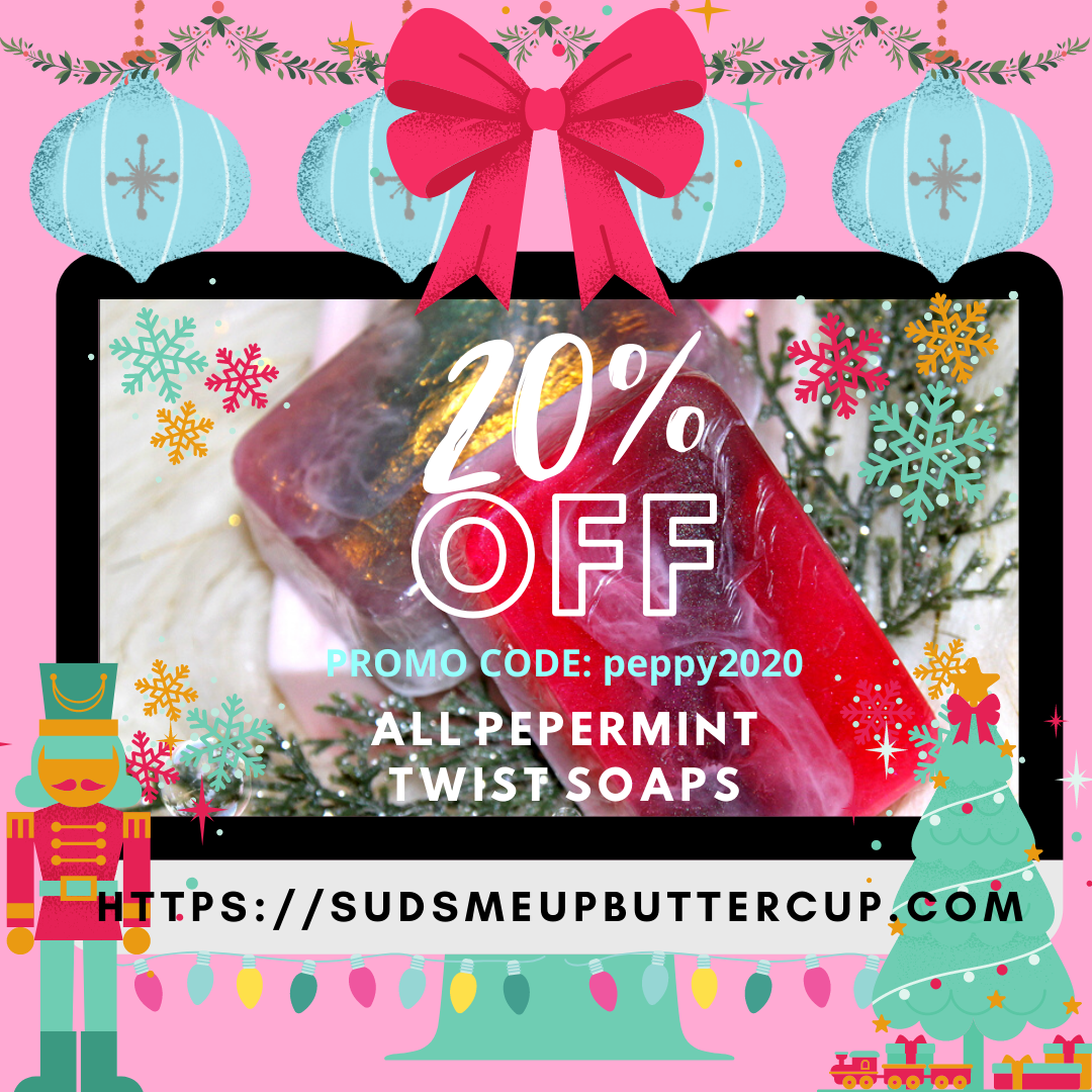 Suds Me Up Buttercup Full Body Spa Bars Peppermint Twist Artisan Handmade All-Natural Soaps